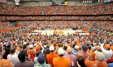 A packed house inside the Carrier Dome via Syracuse.com