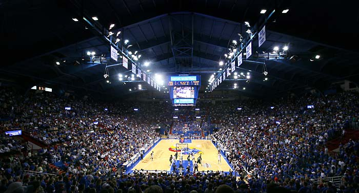 Allen Fieldhouse, via New England Flag and Banner