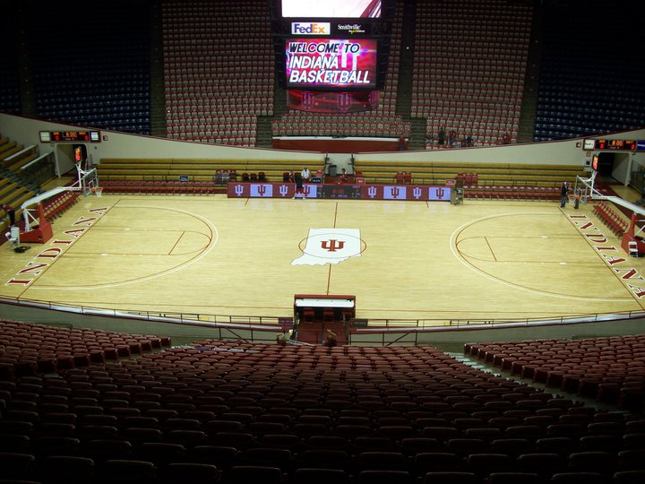 Above center court at Assembly Hall, via Postins Postcards
