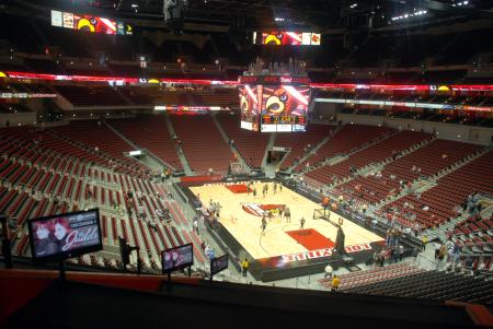 Arena interior via UofL Card Game/