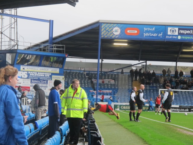 The Police Stand continues the Milton End's prison-yard vibe.