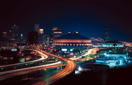 The Superdome and the New Orleans skyline via Comicvine
