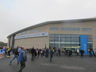 The uninviting main entry to The Amex (photo: Stadiafile)