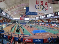 The expansive Armory space allows for the 200-meter track (Photo: Stadiafile)