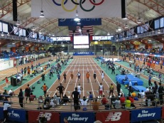 Sprints take place on the 8-lane center straightaway (Photo: Stadiafile)