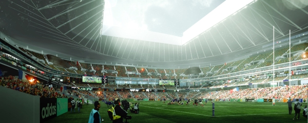 The heavens will shine down through the open roof (Photo: Populous)