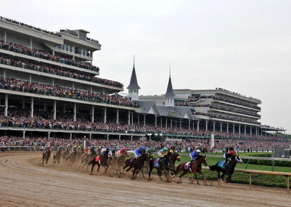 The famous view of Churchill Downs c. 2006 via Horseback Magazine