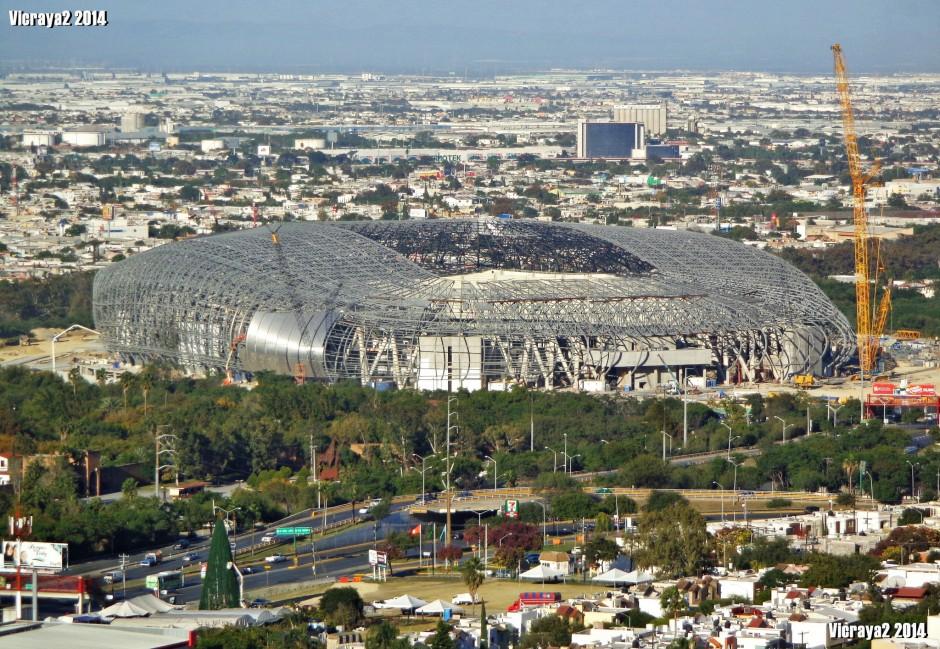 Aerial view of Estadio Monterrey in November 2014 (Photo: Victor Torres Flickr)