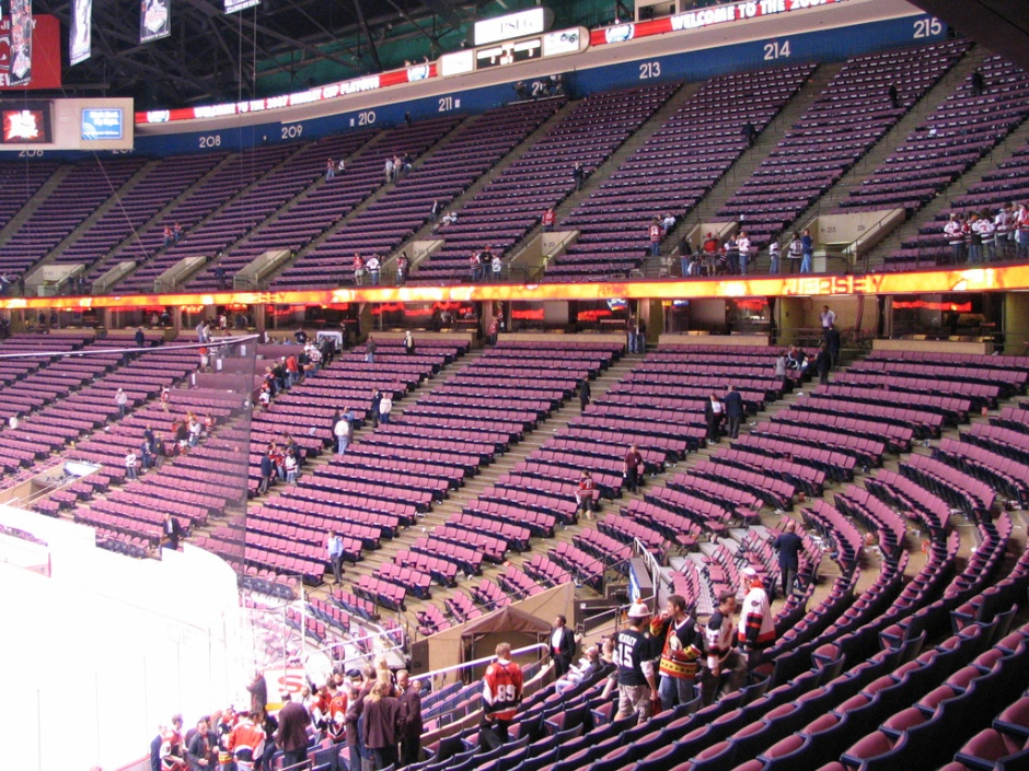 Those magenta seats and manhunt track up top (Image: Flickr)