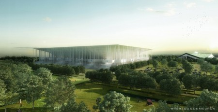 Early rendering of Grande Stade Bordeaux (Image: Herzog & de Meuron)