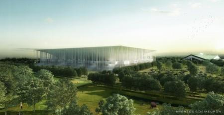 Early rendering of Grande Stade Bordeaux (Image: Herzog & de Meuron)