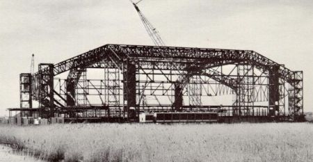 The steel frame rises above the marsh (Image: lera.com)