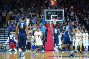 Penn backcourt locked in.