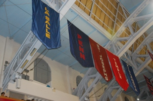 The Big 5 represented in the rafters.