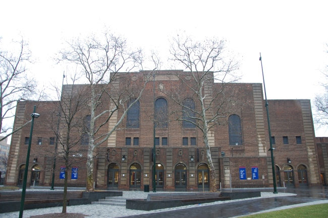 The Palestra's main entrance (Photo: Stadiafile)