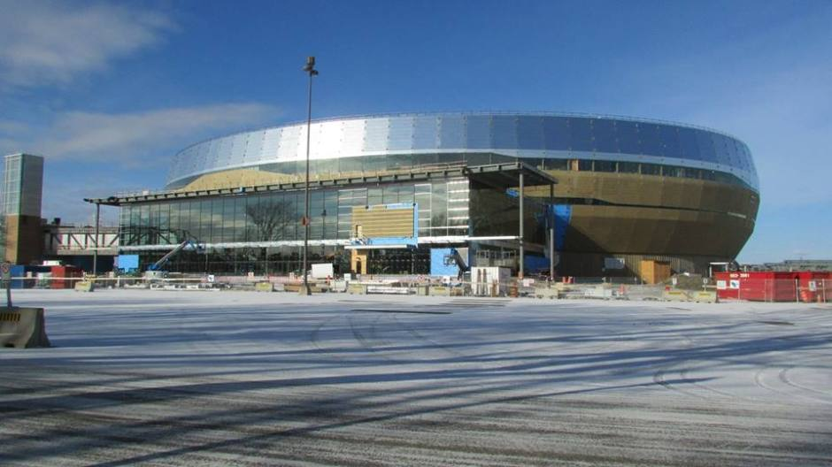 Construction update seems accurate to rendering (Photo: Construction nouveau Colisee Facebook)