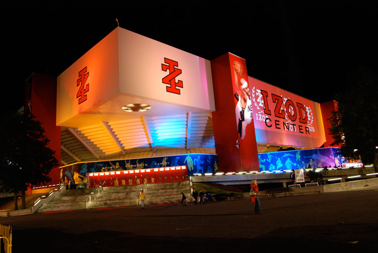 The Izod Center all lit up (Image: Eidetic)