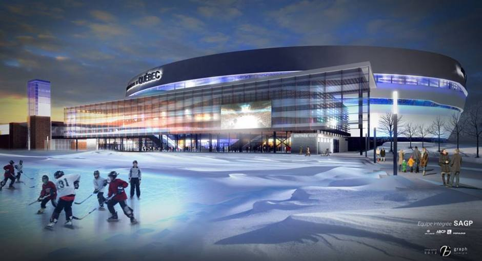 Artistic Impression with skate pond (Image: Construction Nouveau Colisee Facebook)
