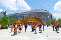 MODERN: Free from the traditional dogma that limits baseball stadium design, MLS embraces modernity at Red Bull Arena and Kansas City's Sporting Park. The Populous-designed BBVA Compass Stadium in downtown Houston is perhaps the best. (Photo: Populous)