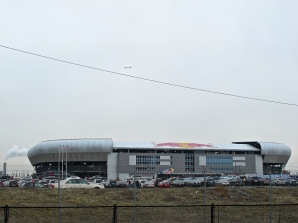 POST-INDUSTRIAL GRIT: Driving past Red Bull Arena on Route 280, you could be in the UK, Netherlands or Germany. Harrison, NJ is home to a large Portuguese community whose soccer passions run deep. (Photo: Stadiafile)