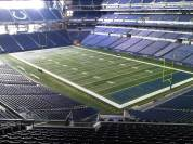 Lucas Oil Stadium's main configuration as a football stadium (Photo: Brits and Baseball)